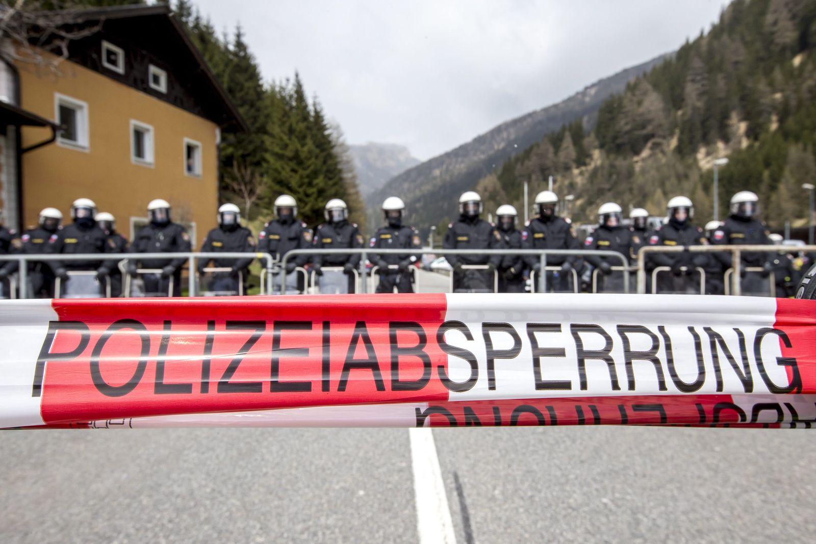 Polizei am Brenner