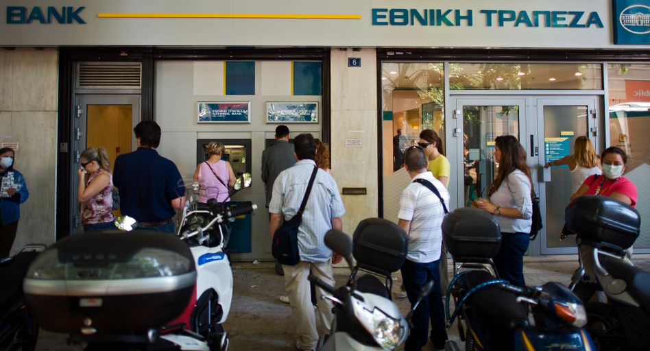 Greeks have already taken billions out of their bank accounts (June 2011 photo).