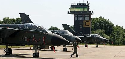 The Büchel air base in south-west Germany: The US Air Force has around 20 nuclear bombs stationed there.