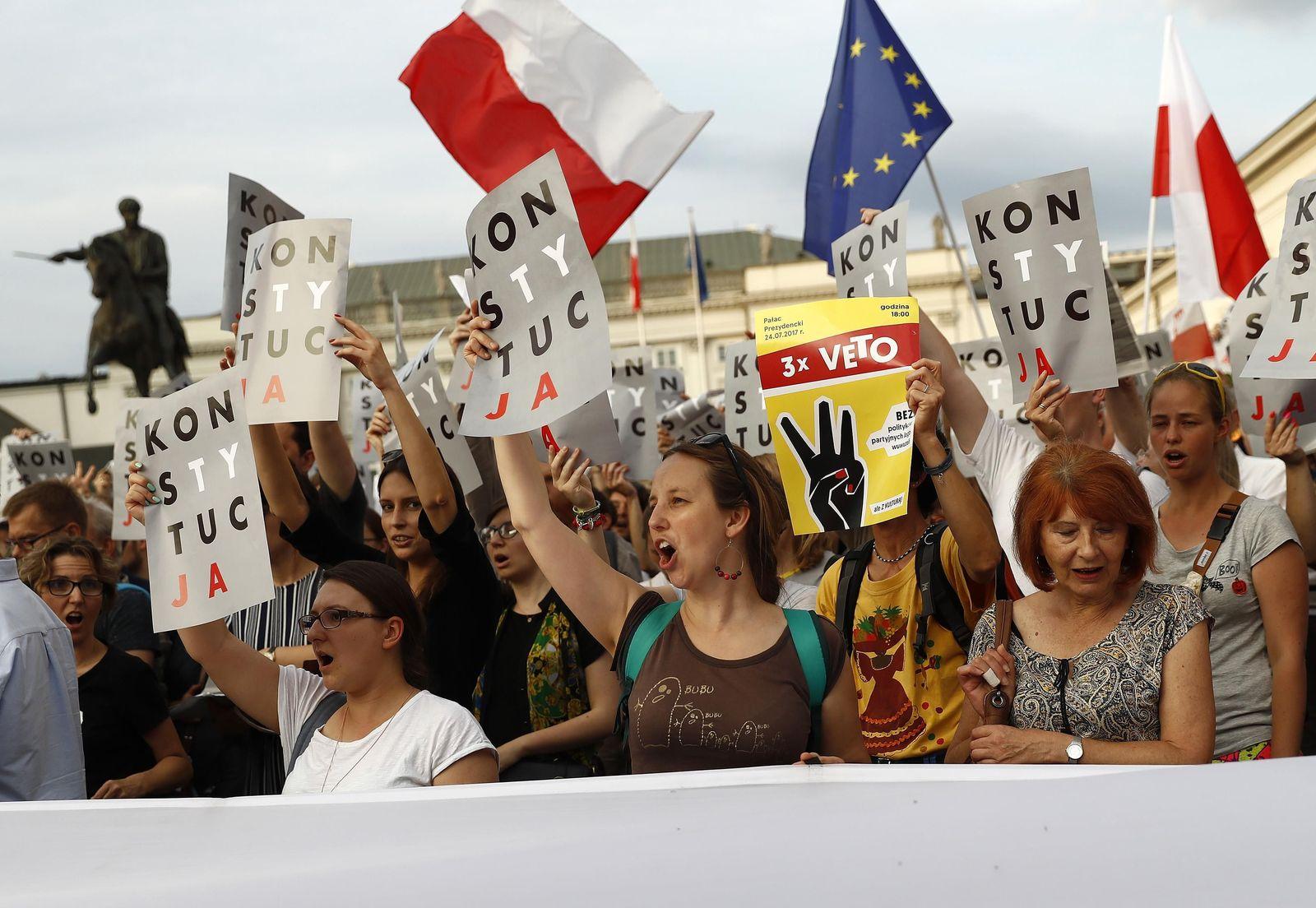 Polen Proteste Justizreform