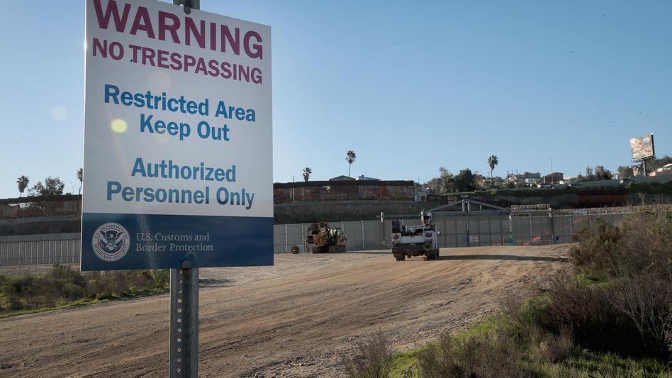 Bauarbeiten an der US-mexikanischen Grenze
