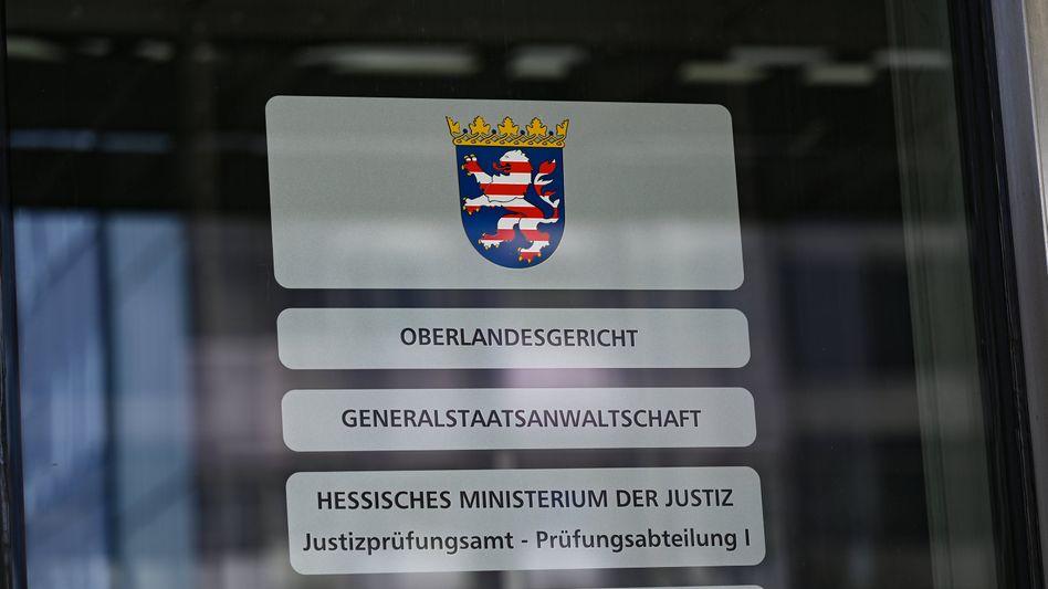 Eingangsbereich des Oberlandesgerichts Frankfurt