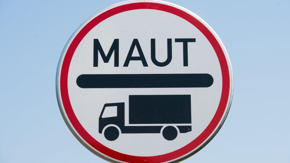 Maut-Schild für Lkw