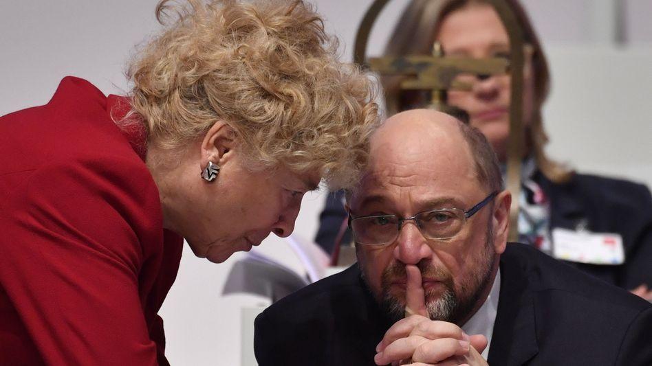 Gesine Schwan, Martin Schulz