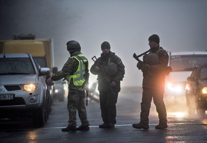 Ukrainische Grenzsoldaten