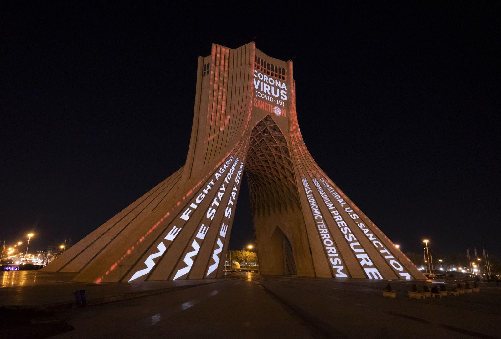 Iran-Tehran-Covid19-Video mappinng