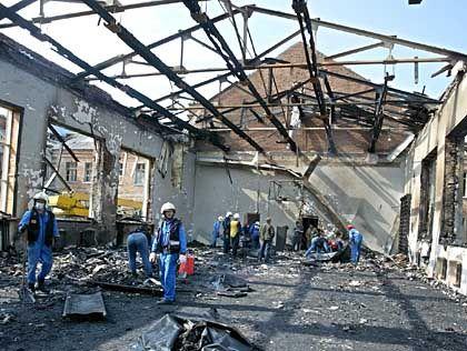 Schule in Beslan nach der Geiselnahme: Bilder eines Kriegsschauplatzes