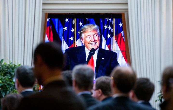 Trump-Wahlparty in New York, Januar 2017