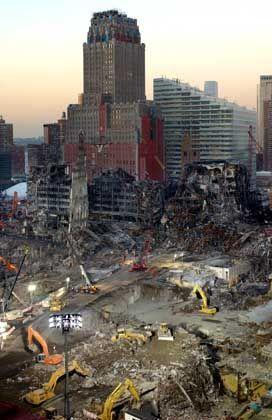 Trümmer des World Trade Center in New York