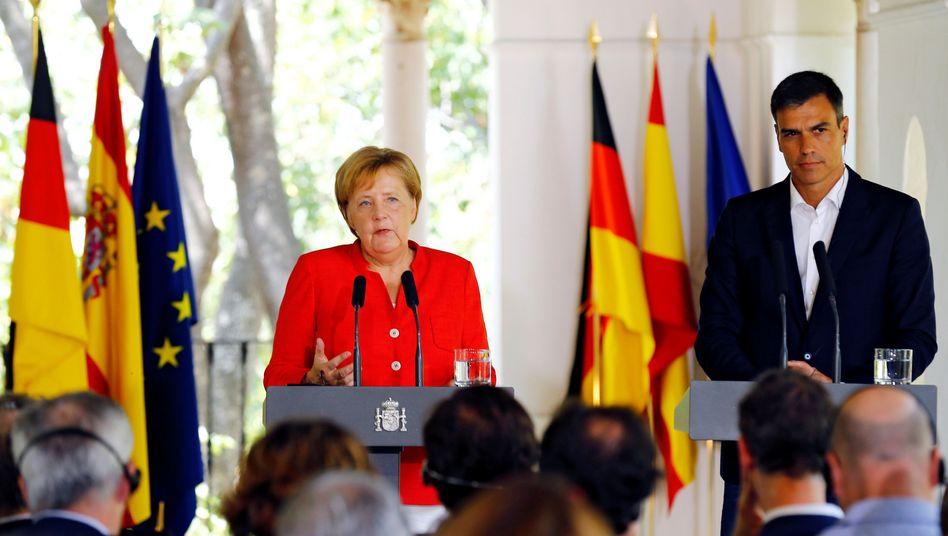 Angela Merkel und Pedro Sánchez