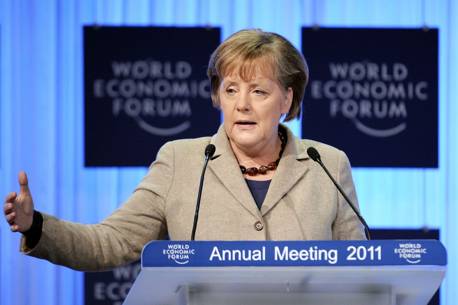 Merkel Davos