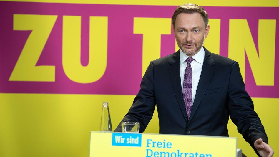 FDP-Chef Lindner stellt den Entwurf des Bundestagswahlprogramms vor: »Nie gab es mehr zu tun«