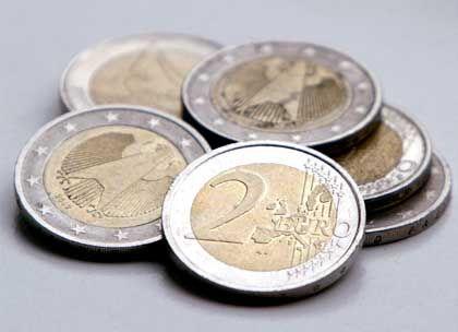 Fälschungsobjekt Zwei-Euro-Münzen