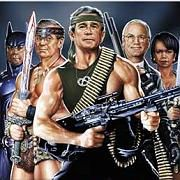 "The original ""Bush Warriors"" SPIEGEL cover illustration from 2002."