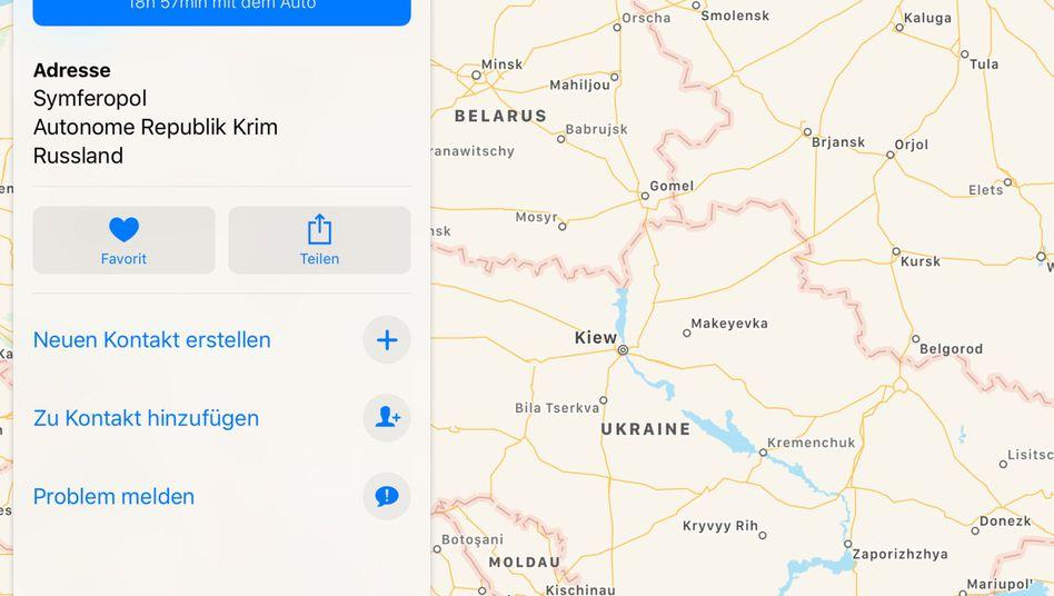 Krim Apple Will Zuweisung An Russland Uberprufen Der Spiegel