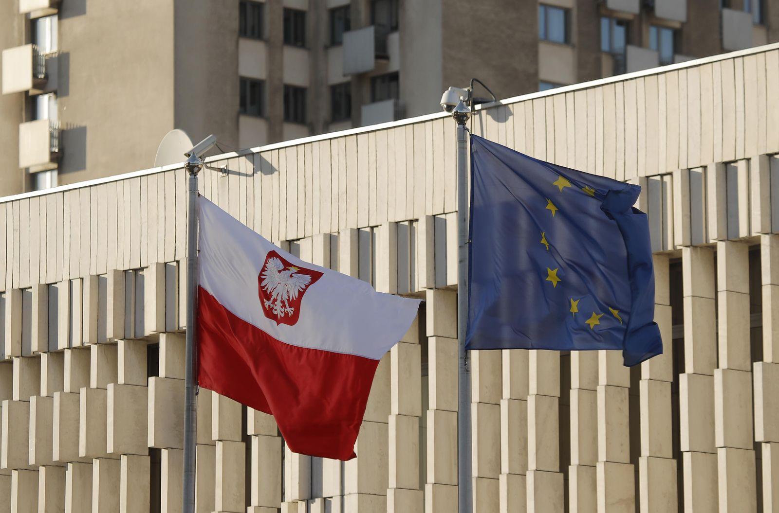 Flagge Polen EU