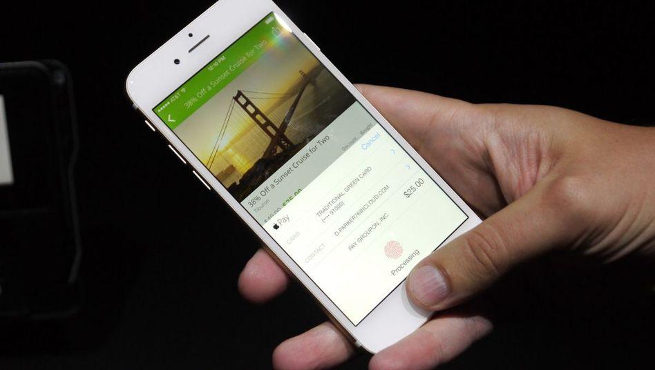 Fingerabdrucksensor beim iPhone