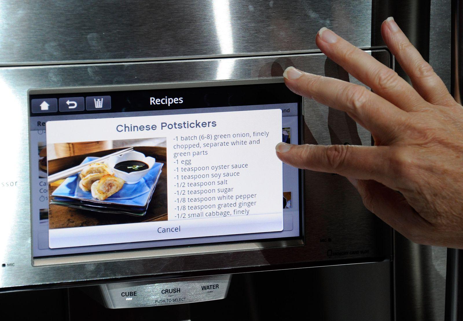 Kühlschrank mit Touchscreen / CES 2012