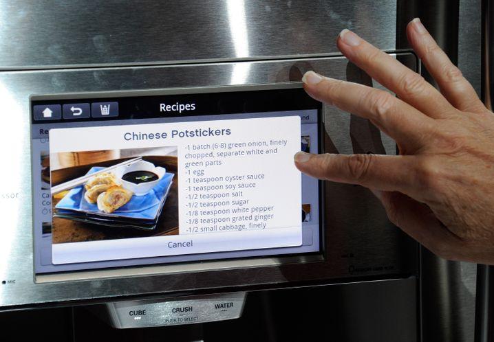 Kühlschrank mit Touchscreen