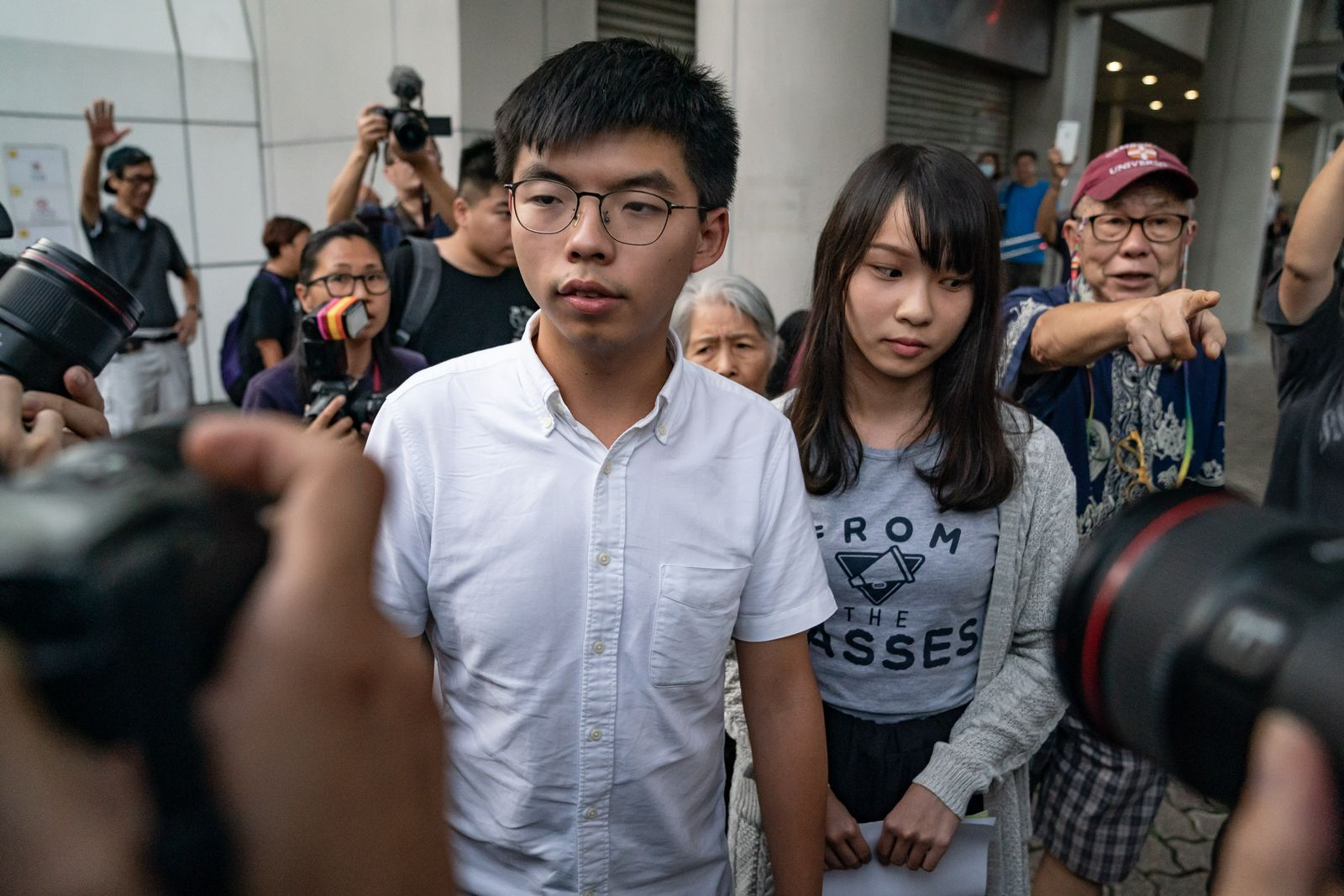 Joshua Wong und Agnes Chow