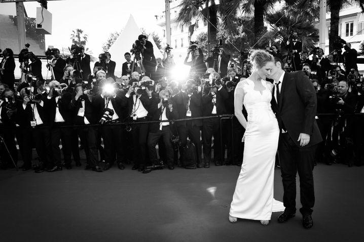 Schauspielerin Thurman mit Regisseur Tarantino in Cannes 2014: Wer wird der Nächste sein?