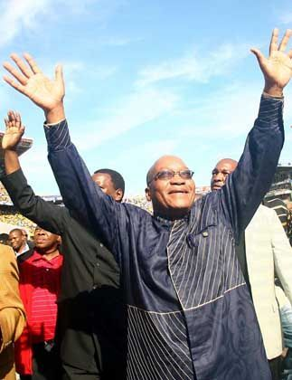 "Potential future South African president Jacob Zuma: ""The ANC is a broad church."""