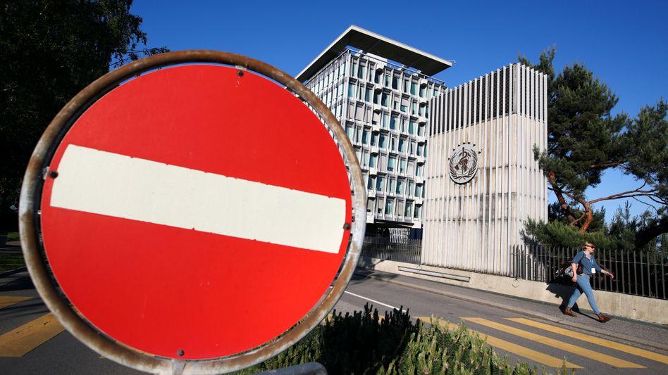 Das WHO-Hauptquartier in Genf