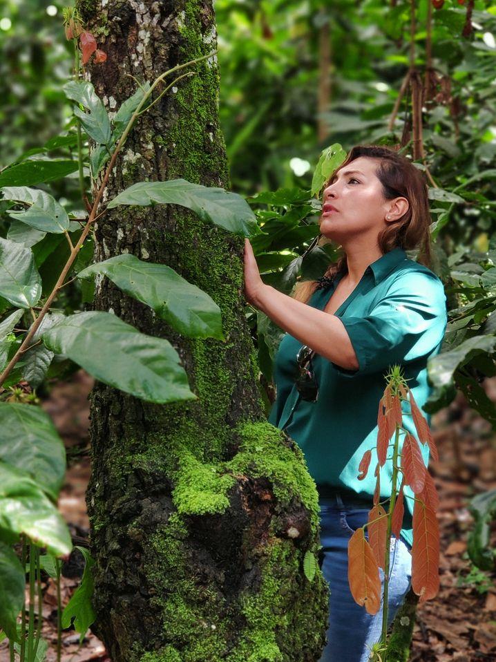 Meybol Estendorfer-Moran weiß, wo ihre Kakaobäume stehen