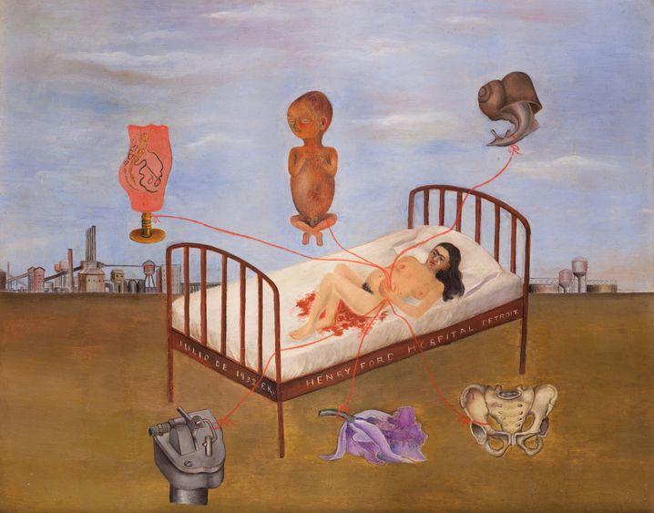 """Frida Kahlo bricht ein Tabu (Gemälde """"Henry Ford Krankenhaus des fliegenden Bettes"""", 1932): Kunst hat seit langem eine unwirkliche Beziehung zu Frauen"""