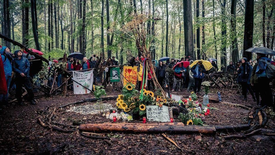 Gedenkstätte im Hambacher Forst