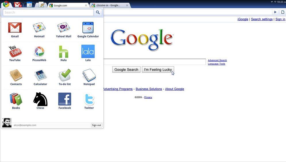 Das neue Betriebssystem: Google Chrome OS