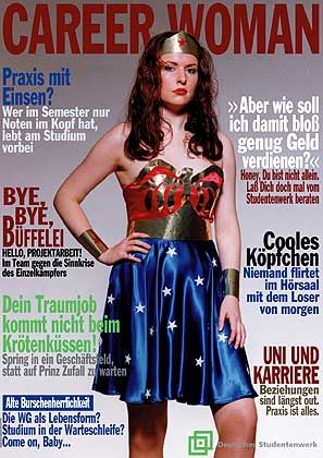 Preisgekrönter Entwurf von Katja Hinderberger (FH Darmstadt): Grelle Optik von Frauenzeitschriften