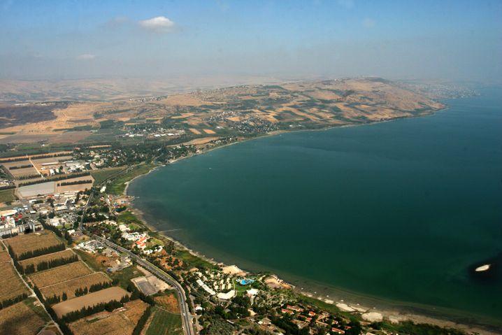 Blick über den See Genezareth