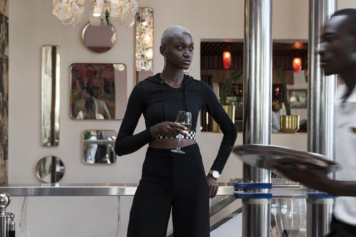 Vanessa Anfang 2019 in einer Bar in Kapstadt, Südafrika