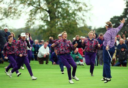 Jubelnde Europäer beim Sieg 1992