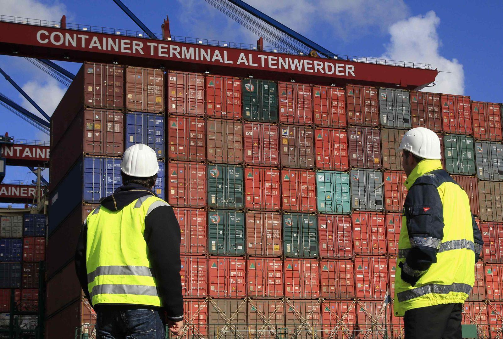 Konjunktur / Hafen Hamburg / Container