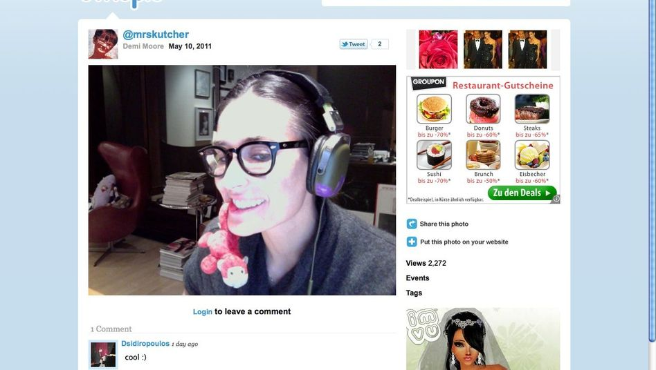 Twitpic-Nutzerin Demi Moore (Archivbild): Den Fotodienst gibt es bald nicht mehr
