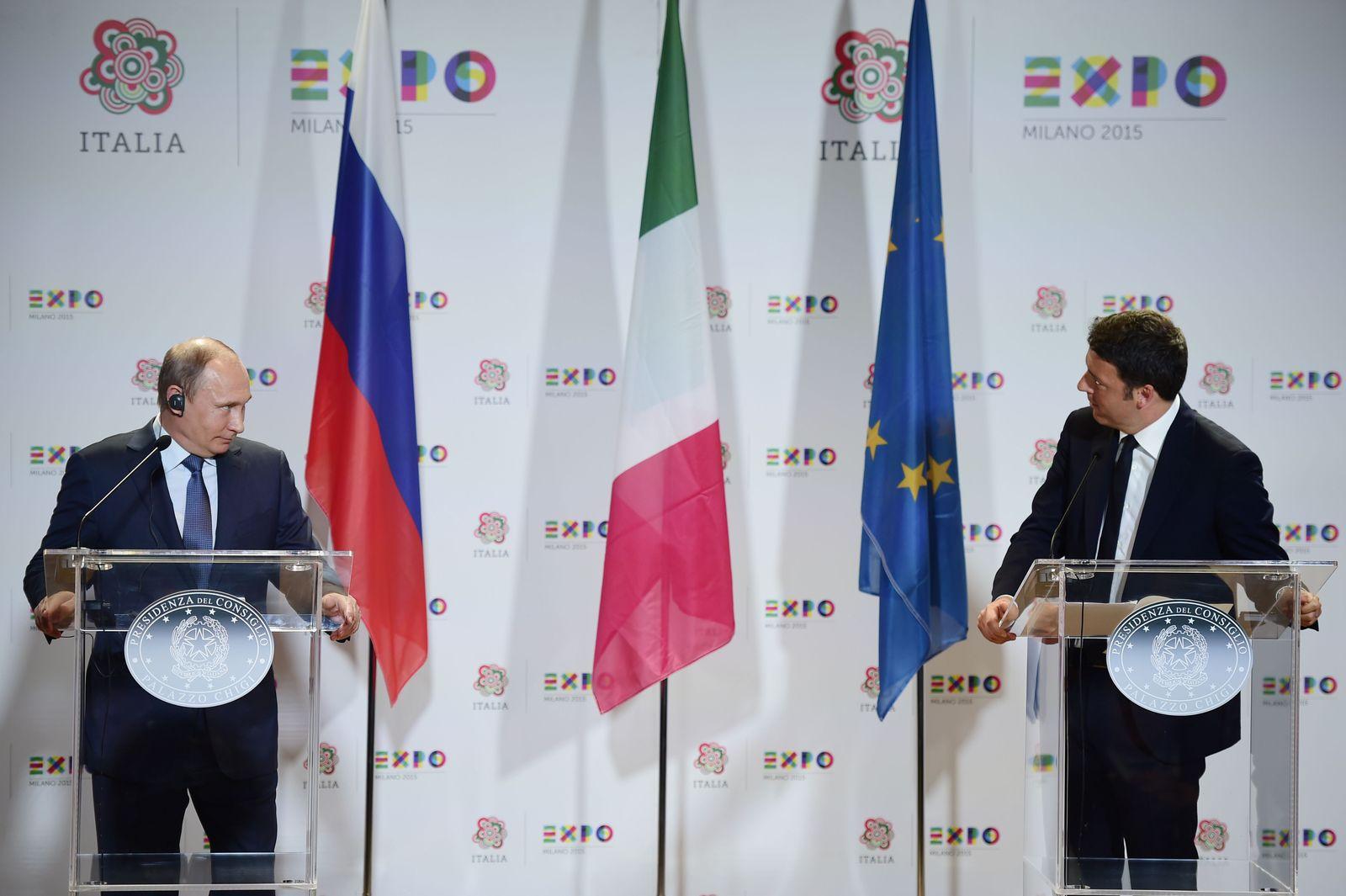 Vladimir Putin/ Matteo Renzi