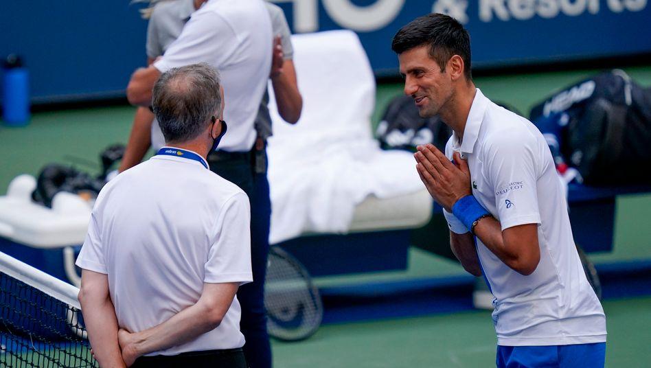 Djokovic bittet beim Schiedsrichter um Gnade