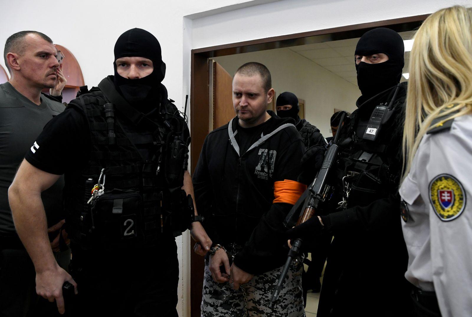 FILE PHOTO: Preliminary hearing on murders of investigative journalist Kuciak and his fiancee Kusnirova in Pezinok