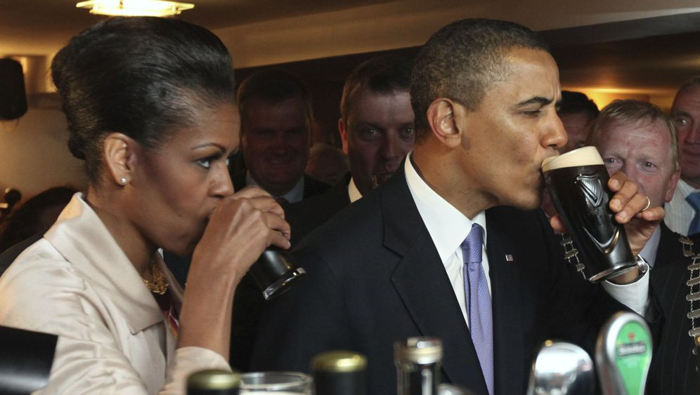 Obama in Irland: Das Auto bleibt liegen, das Bier schmeckt