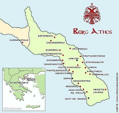 Republik Athos: Auf dem östlichen Finger der griechischen Halbinsel Chalkidike