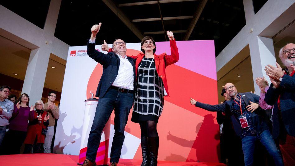 """Designierte SPD-Führung Walter-Borjans und Esken: """"Die beiden haben eine Chance"""", sagt Lafontaine"""