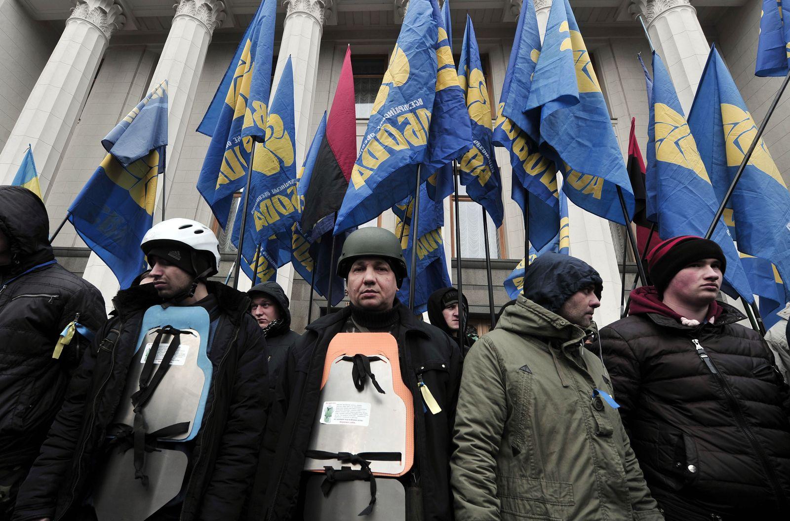 Ukraine / Unruhen / Swoboda-Partei