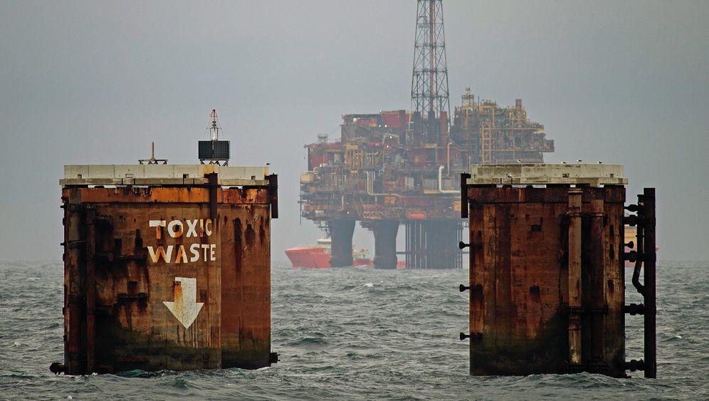 Zurückgelassene Fundamente, Ölplattform in der Nordsee