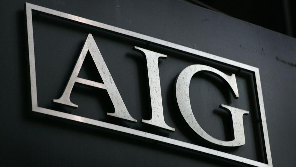AIG-Logo in New York: Noch 21,5 Milliarden Dollar Gewinn im Vorjahreszeitraum