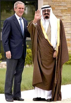 US-Präsident Bush mit dem saudischen Kronprinz Abdullah: Jeder Kopftuchträger wirkt wie ein al-Qaida-Mann