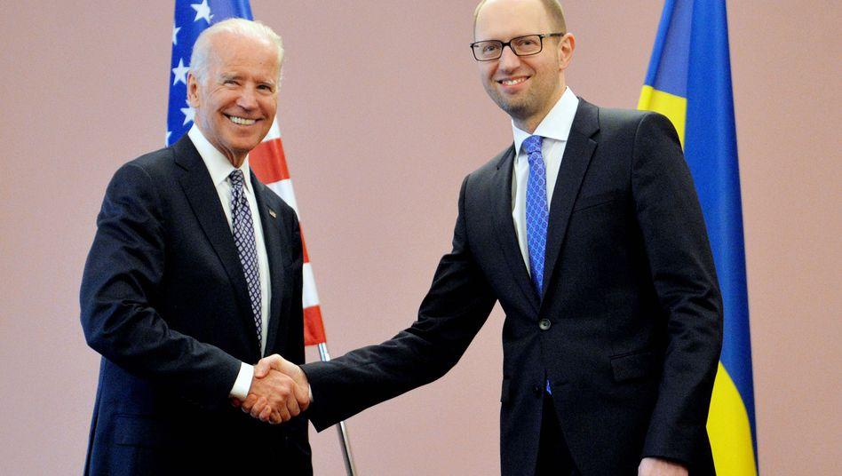 Biden-Besuch in Kiew: USA versprechen Ukraine neue Millionenhilfe