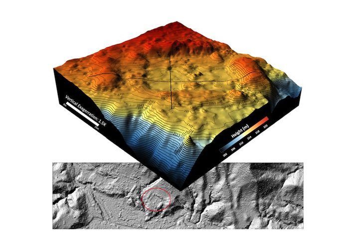 Laser-Grafik: Siedlungsstrukturen im Untergrund