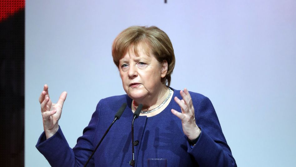 "Angela Merkel auf dem ""Digitising Europe Summit"" in Berlin"
